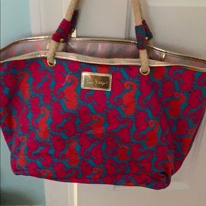 Lilly Pulitzer Seahorse Tote